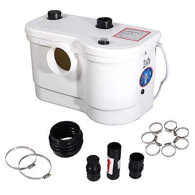 800W Toilet Sink Basin Bath Macerator Sanitary Waste Removal Water Pump 3 Inlet