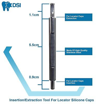 Dsi Dental Implant Loc-in Silicone Caps Extraction Insertion Tool Home Use