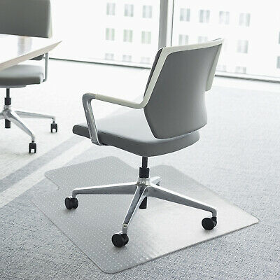 Homcom Office Carpet Protector Chair Mat Spike Non Slip Chairmat Frosted