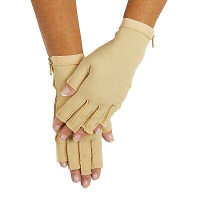 Therapeutic Compression Gloves, Zip Up Gloves For Arthritis Pain Relief, 1 Pair - $19.17