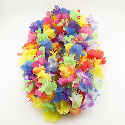 Simulated Luau Leis Flower Moana Party Decorations Pool Beach Party Jungle Theme - Flower Theme Party