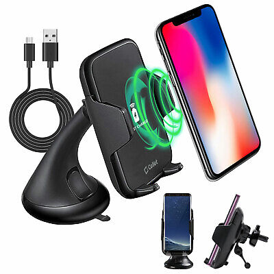Car Air Vent Wireless Charger Phone Holder Mount and Dashboa