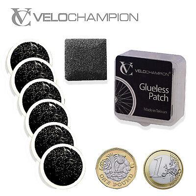 VeloChampion Bike Puncture Repair Kit 6 Inner Tube Tyre Patches Road Mountain