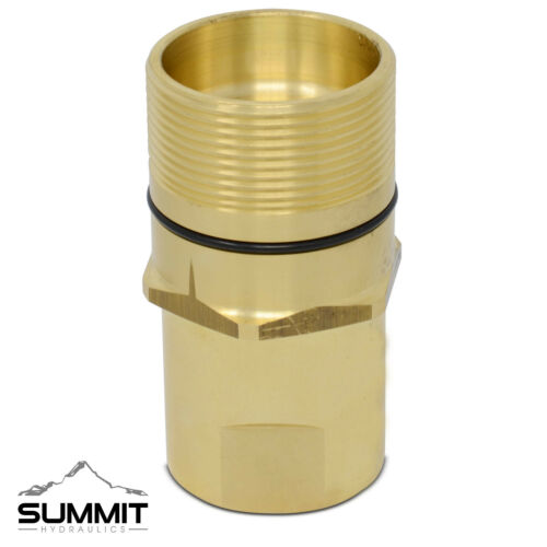 1″ NPT Thread Wet-Line Wing Nut Hydraulic Quick Disconnect Male Coupler Fitting