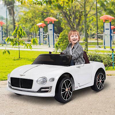 HOMCOM Bentley Coche Eléctrico para Niño 3-8 Años Control Remoto Carga 30kg