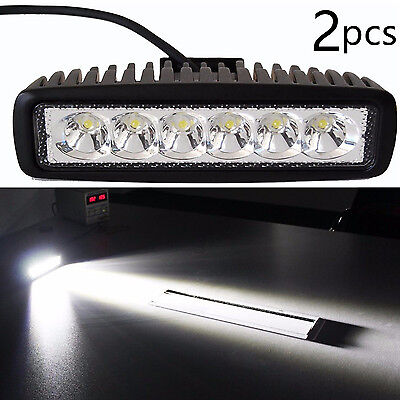 JDM ASTAR 2X 18W 1200LM LED Bar Work Spot Fog DRL Light Lamp Offroad  Boat UTE