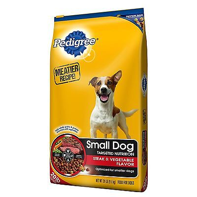 Pedigree Small Breed Dry Dog Food Complete Nutrition 20 lb