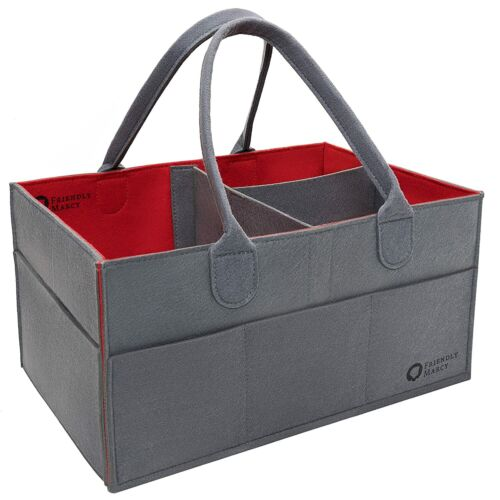 Diaper Caddy Portable Baby Storage Basket Car Travel Organizer Nursery Tote