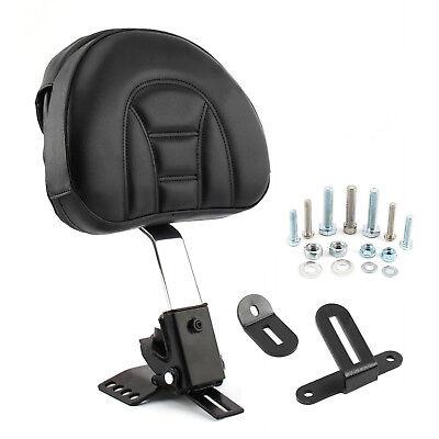 Adjustable Plug-In Driver Rider Backrest Set For Harley Touring FLHT 97-17 US