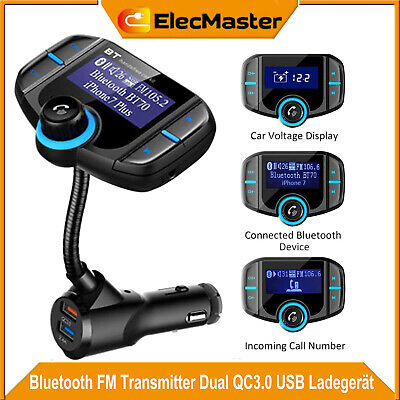 Bluetooth FM Transmitter QC3.0 USB KFZ Auto TF AUX Freisprechanlage MP3 Player Player Fm Transmitter Bluetooth