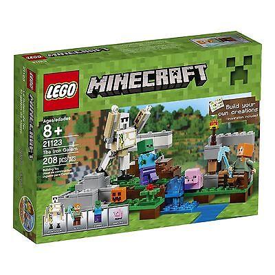 Lego Minecraft The Iron Golem   21123  208 Pieces  New Sealed Free Shipping