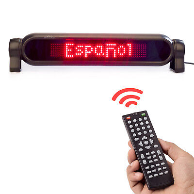 12v Car Led Sign Remote Programmable Scrolling Message Display Screen Board Red