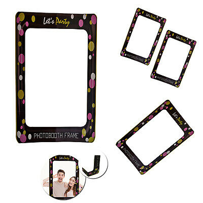 Let's Party Props Photo Booth Selfie Frame for Birthday Christmas Wedding Party (Christmas Props For Photo Booth)