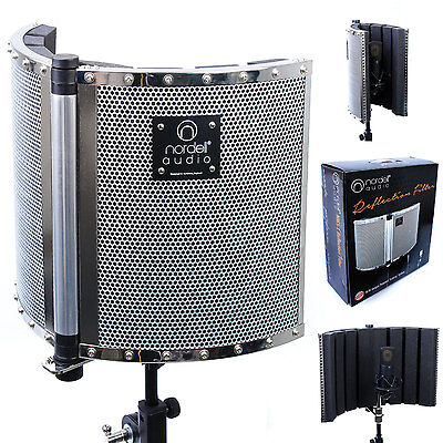 Nordell' Portable Recording Vocal Booth: Microphone Reflection Filter / Screen