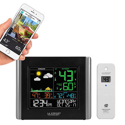 C84343 La Crosse Technology Remote Monitoring Color Weather Station with LTV-TH2