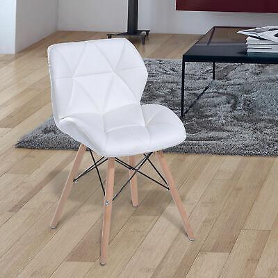 Zimmer Stuhl (Esszimmerstuhl Wohnzimmer Stuhl Küchen Tisch Esstisch Hocker Bürostuhl Holz Weiß)