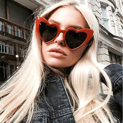 Oversized LOVE Heart Shaped Sunglasses Large Frame Black Lens Women Fashion (Love Heart Shaped Sunglasses)