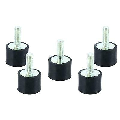 5pc M8 Thread Single End Rubber Shock Absorber Vibration Isolator Mount Us Ship