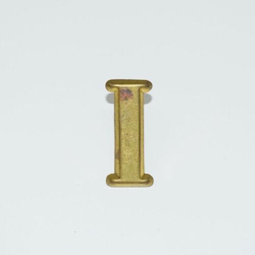 "Original Brass Company ""I"" Hat Insignia - Civil War Era - Regiment Letter"