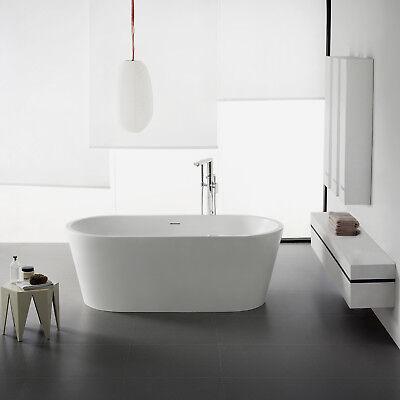 Freistehende Badewanne aus Mineralguß Solid Stone Farbe weiß matt 170x80cm 11782 (Stone Freistehende Badewanne)