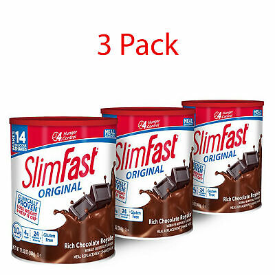 SlimFast Shake Weight Loss Mix Powder Chocolate Meal Replacement Protein Vitamin (Meal Replacement Shake Protein Powder)
