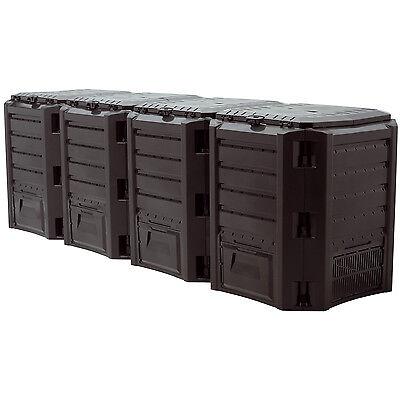 Schnellkomposter 1600 Liter Gartenkomposter Thermokomposter Kunststoff Komposter