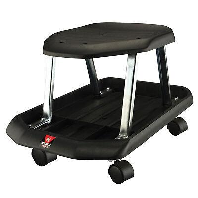Neiko Mechanics Rolling Shop Seat | Creeper Roller Garden W/ Tool Storage Tray