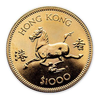 1978 Hong Kong Gold $1000 Year of the Horse BU - SKU #49572