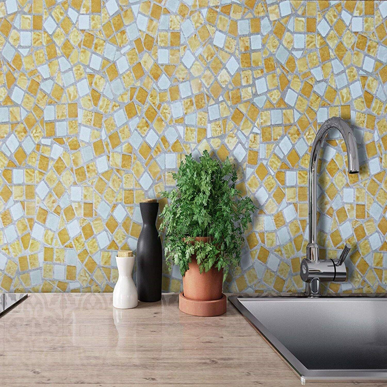 New Wallpaper Self Adhesive Modern Vinyl Film Sticker For Bathroom Kitchen Wall
