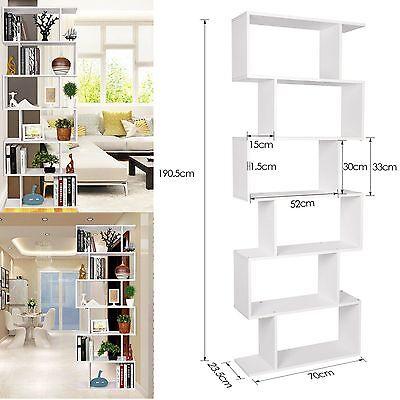 Homfa Regal Standregal Bücherregal Raumteiler Weiß 190 cm