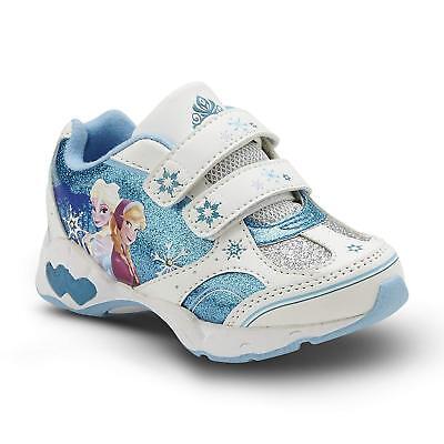 New w/ Defect! Disney Frozen Elsa & Anna Sneaker Toddler Girl's Shoes Light - Disney Girl Shoes