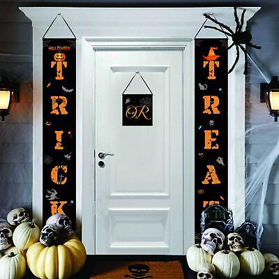Halloween Decorations Witches Outdoor (Halloween Decorations Outdoor, Trick or Treat Porch Sign Witch Banner Party)
