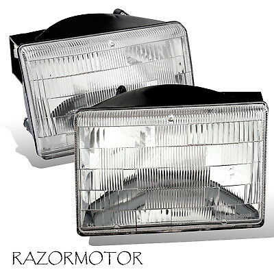 1993-1998 Replacement Headlight Set For Jeep Grand Cherokee Pair w/Bulb - Jeep Grand Cherokee Headlight Replacement