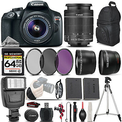 Canon EOS Rebel T6 DSLR Camera + Canon 18-55mm IS II - Ultim