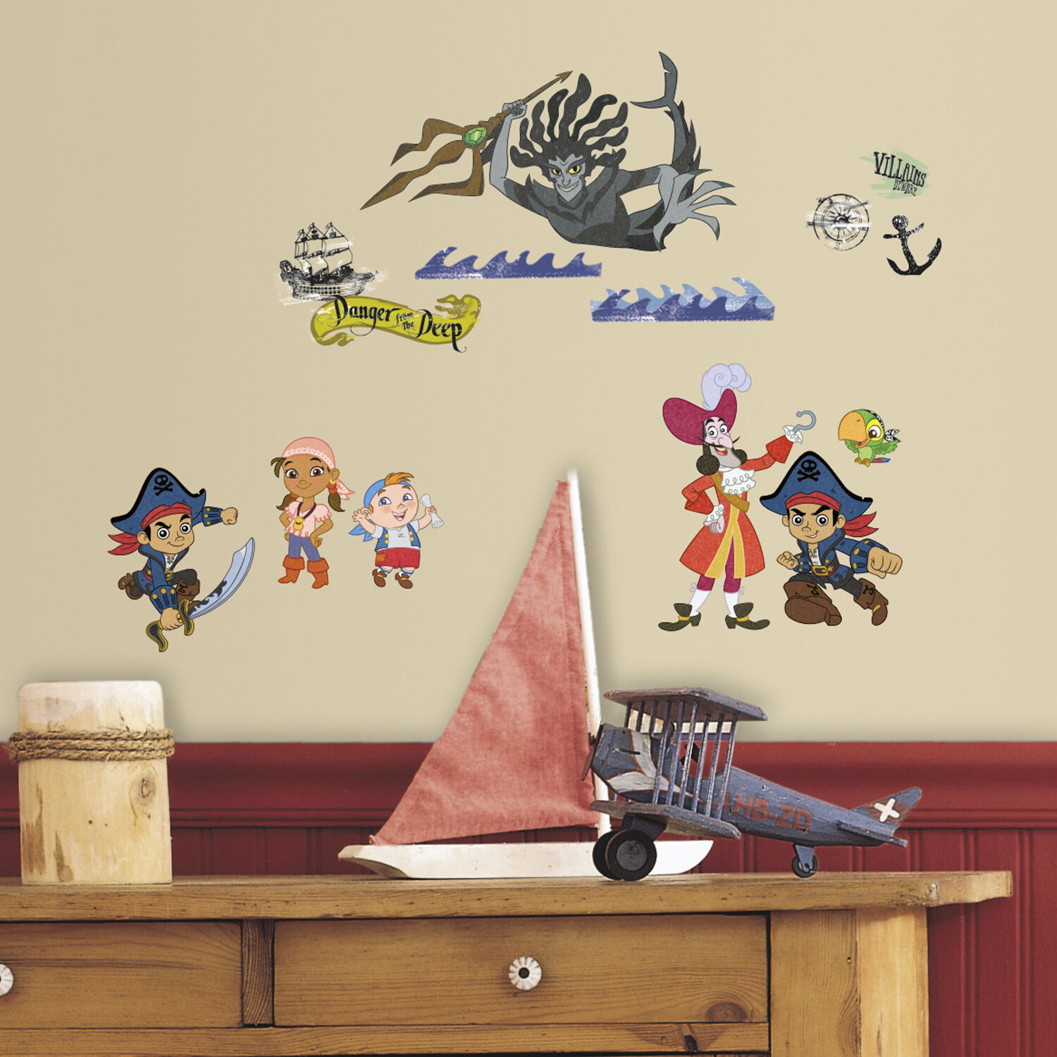 Captain Jake And The Neverland Pirates Pirate Wall Stickers Big