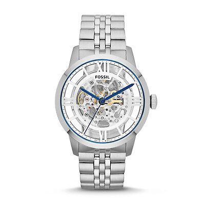 Fossil Men's Townsman ME3044 Silver Stainless-Steel Dress Watch