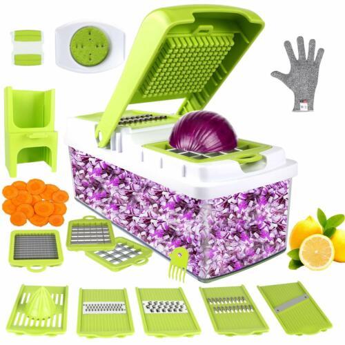 vegetable chopper food dicer cutter slicer 10in