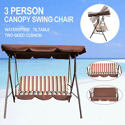 Canopy Swing Chair Patio Backyard Awning Yard Porch Furniture 3 Person Outdoor ()