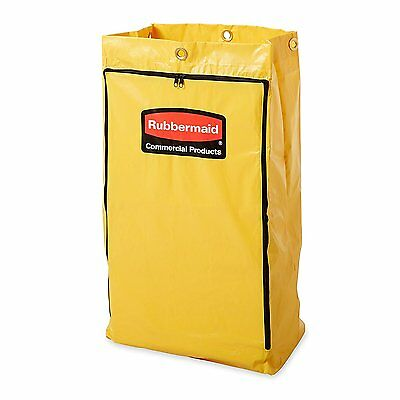 Rubbermaid 24 Gal Vinyl Replacement Bag Wzipper For Cleaning Cart 1966719 New