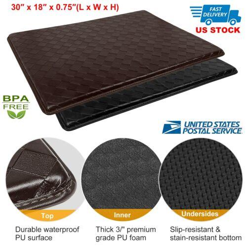 Modern Indoor Cushion Kitchen Rug Anti-Fatigue Floor Mat - A
