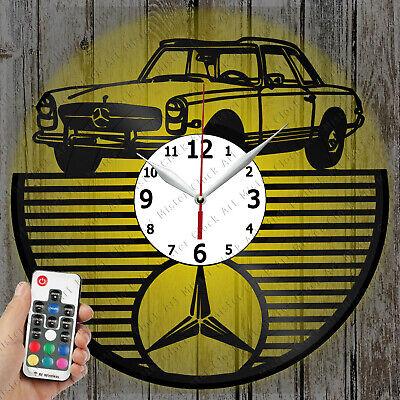 LED Clock Mercedes Retro Car Vinyl Record Clock Art Decor Original Gift 2383