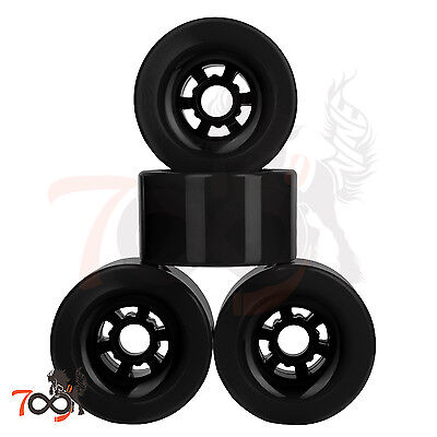 97mm 78A Thin Core Wheels Longboard Flywheel Black Fits Evolve GT Black (4pcs)