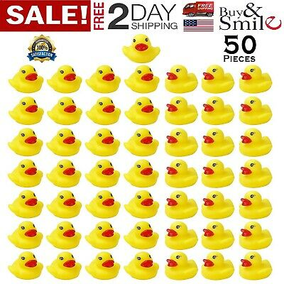 50 Rubber Ducks Yellow Duck Lot Baby Shower Cute Bath Toy 1.6