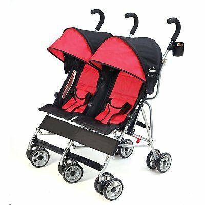 Double Baby Stroller Infant 2 Child Push Chair Canopy Storage Folding Portable