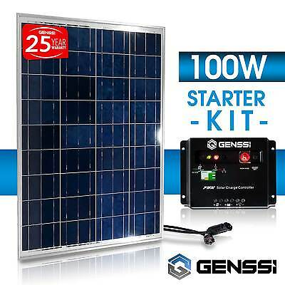 PV SOLAR KIT: 100 W Watt 100Watts PV Solar Panel 12V RV Boat + Charge Controller