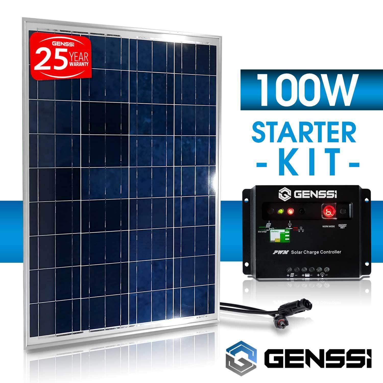 PV-SOLAR-KIT-100-W-Watt-100Watts-PV-Solar-Panel-12V-RV-Boat-Charge-Controller