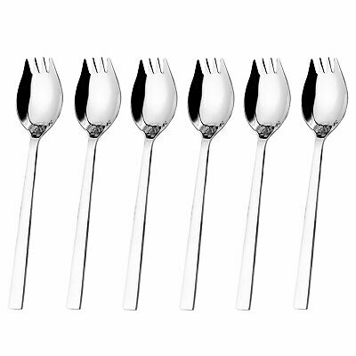 6-pack 18/10 Stainless Steel Sporks,8.2-inch Ice Cream spoon & Salad Forks,Fruit