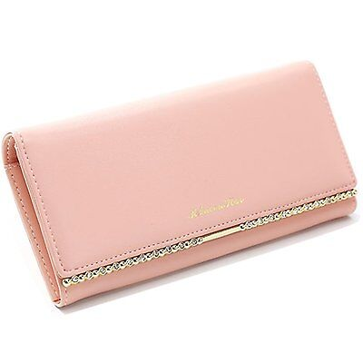 KQueenStar Women Lady Leather Wallet Purse Credit Card Clutch Holder Case Lace