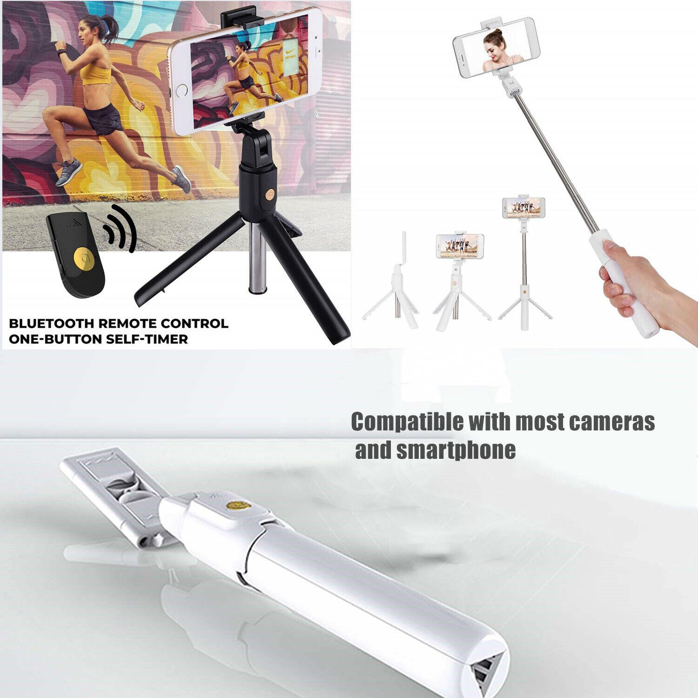 Bluetooth Wireless Remote Extendable Selfie Stick Tripod Mou