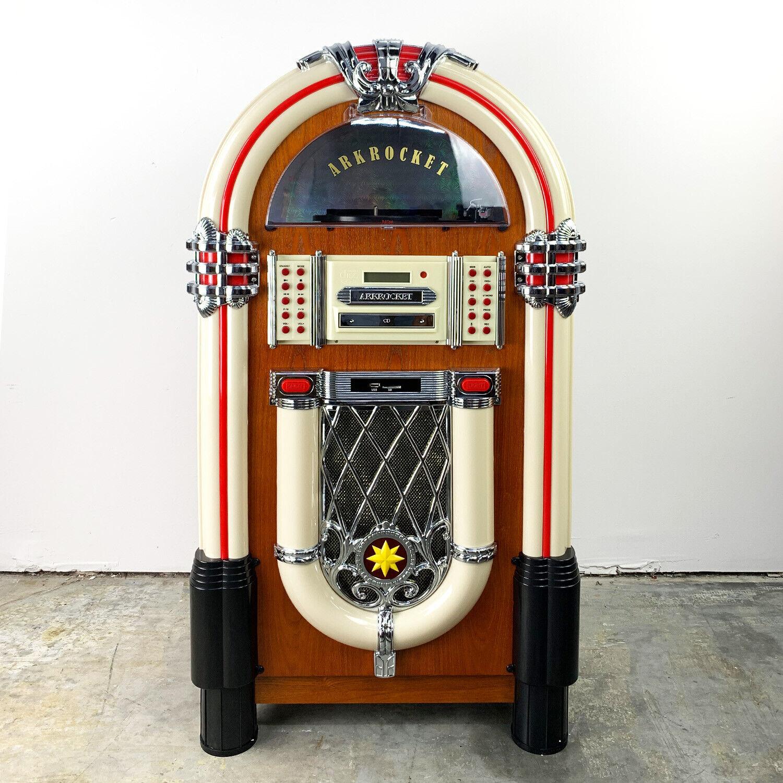 Arkrocket Retro Jukebox Vinyl Record Player Bluetooth Turnta